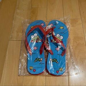 NWT Lootcrate Sanrio flip flops